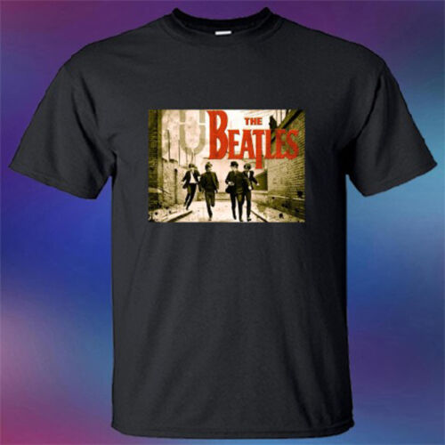 New The Beatles English Rock Band Legend Men/'s Black T-Shirt Size S-3XL