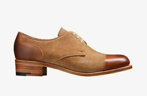 alto sconto Donna  Handmade Bespoke Two Tone Oxford Toe Cap Formal Formal Formal Derby scarpe  online al miglior prezzo