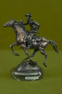 Trooper of the Plains by Thomas Lost-Wax Bronze Statue Decor Western Hot Cast