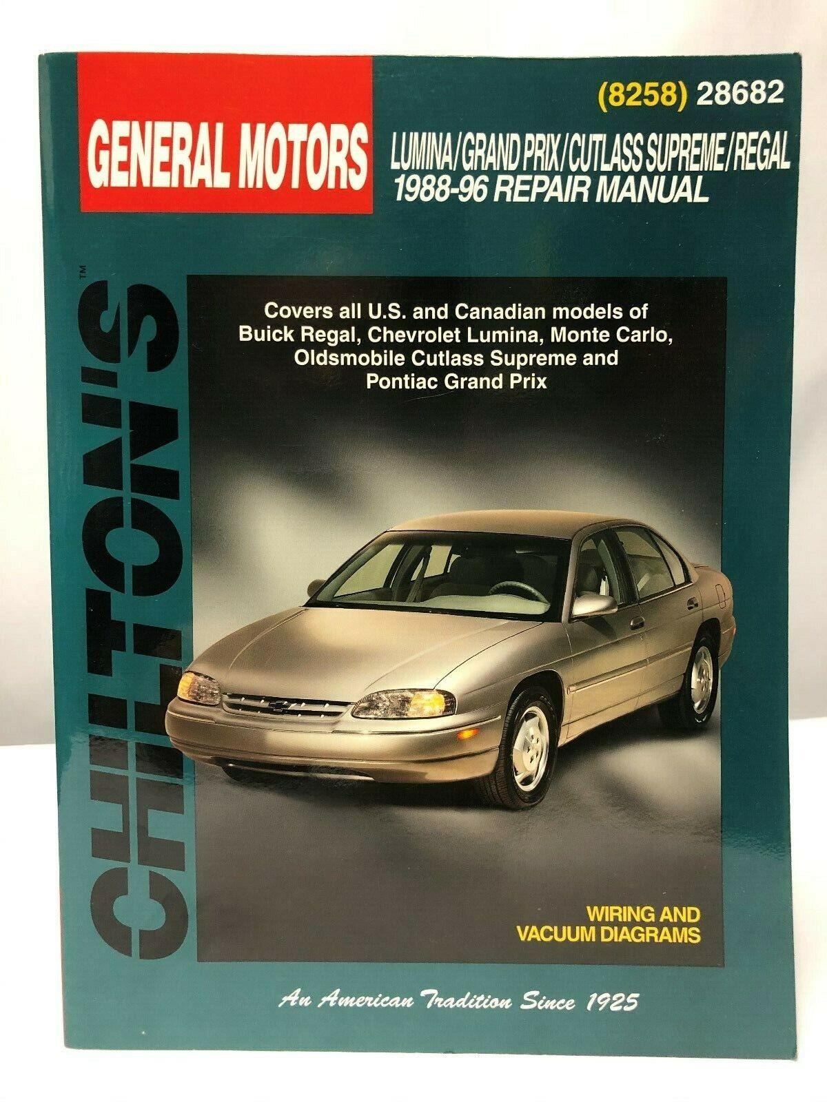 Chilton Lumina//Grand Prix//Cutlass Supreme//Regal 1988-1996 Repair Manual 28682