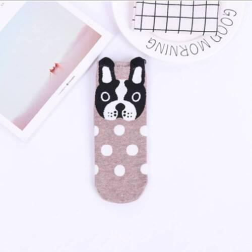 Womens Socks Small Ear Cartoon dog Harajuku Style Funny Gift Animal Series Cute