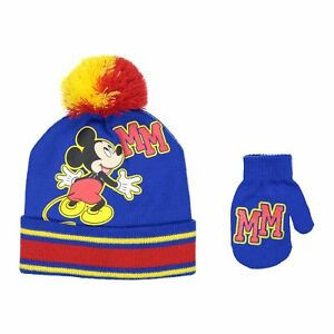179101848a730 Disney Mickey Mouse Boys Beanie Knit Winter Hat And Mitten Set ...