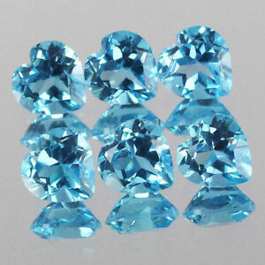 Emerald Cut Faceted Blue Topaz 500Ct.//6 Pcs Swiss Blue Topaz Loose Gemstones