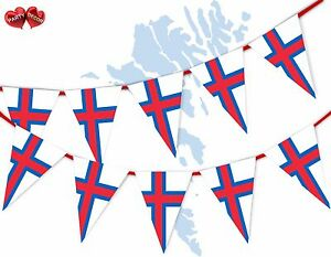 Faroe-Islands-Full-Flag-Patriotic-Themed-Bunting-Banner-15-Triangle-flags