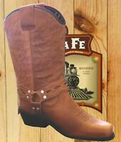 Mens Genuine Leather Western Cowboy Boots Chisel Toe - Coyote Tan Kansas