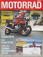 Motorrad 2 79 Benelli Sei Fantic TX150 Yamaha RD50M Honda CB650 Zündapp 125 1979
