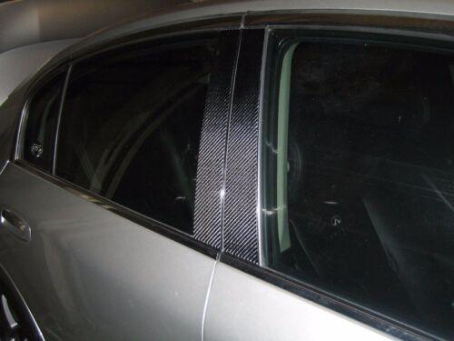 2x2 twill carbon fiber pillar panels covers for 04-10 E60 E61 M5 535i 530i 545i