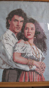 Handcrafted Needlepoint Finished Picture Large- Romance