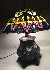 Rare, Vintage Thomas Pacconi Classic Tiffany Style Lamp With Lighten Base