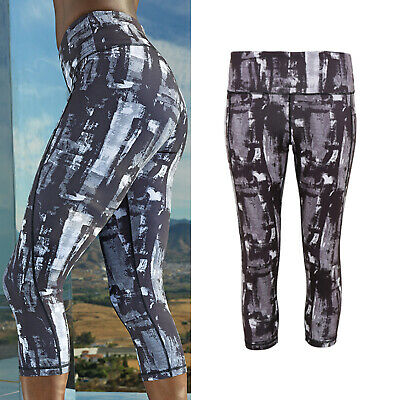 -sports Gym Fitness tr300 Earnest Tridri Women's Performance 3/4 Length Sunset Leggings