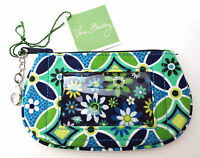Vera Bradley Zip Id Card Case Daisy Daisy Coin Purse Lobster Clasp Key Ring
