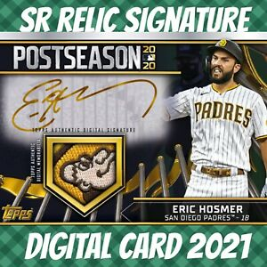 Topps Bunt 21 Eric Hosmer PostSeason Rewind Signature Relic 2021 Digital Card