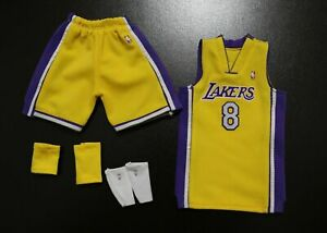Details about Custom 1/6 kobe bryant lakers jersey 8 NBA TOYs home yellow fit enterbay