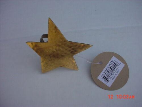 12  Gold  Star  Napkin  Rings  NEW