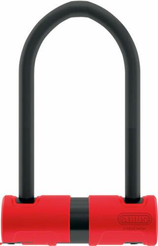 Abus 440A Alarm U-Lock 4.2 x 6.3 Keyed Black Red Includes bracket bike lock