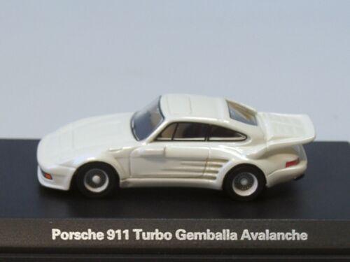 Bos Porsche 911 turbo gemballa Avalanche - 87656-1:87 Weiss met 1986