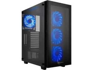 Rosewill-ATX-Mid-Tower-Gaming-PC-Computer-Case-with-Blue-LED-Fans-Tempered-Glas