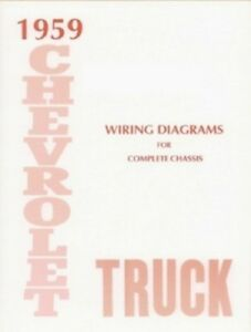 chevrolet 1959 truck wiring diagram 59 chevy pick up ebay rh ebay com