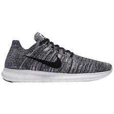 "Men's Nike Free RN Flyknit Black White ""Oreo"" Uk Size 7 831069-100"