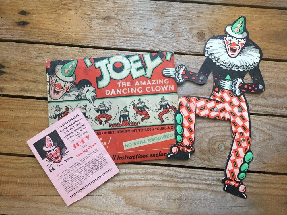 Joey The Amazing Dancing Clown Toy - C1940's