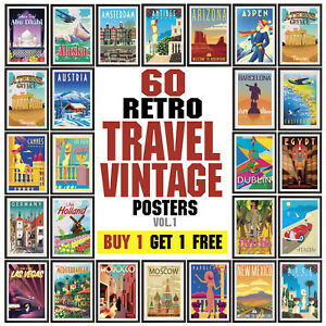 Vintage-Travel-Poster-Retro-Wall-Art-Deco-posters-Vol-1
