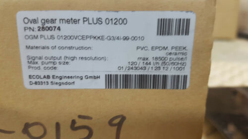ECOLAB  Oval gear meter PLUS 01200