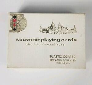 Heraclio-Fournier-Souvenir-Playing-Cards-54-Colour-Views-of-Spain