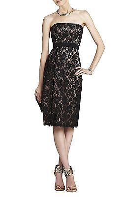 New Bcbg Max Azria Black Alexandra Strapless Dress