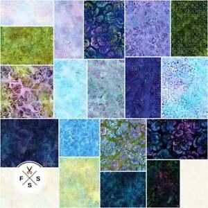 Greenhouse-4-Batiks-5-034-Charm-Pack-Quilting-Squares-CHS-810-42-Kaufman-SQ32