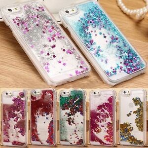 84fe90aea84 Luxury Glitter Star Liquid Back Phone Hard Case Cover for iphone 7 ...