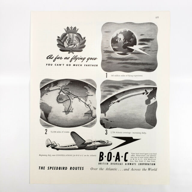 1955 To LONDON ~BRITISH OVERSEAS AIRWAYS CORP BOAC~ Old Airline Luggage Label