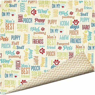 Imaginisce DOG SPEAK 12x12 Dbl-Sided (2) Scrapbooking Papers WOOF! BARK!