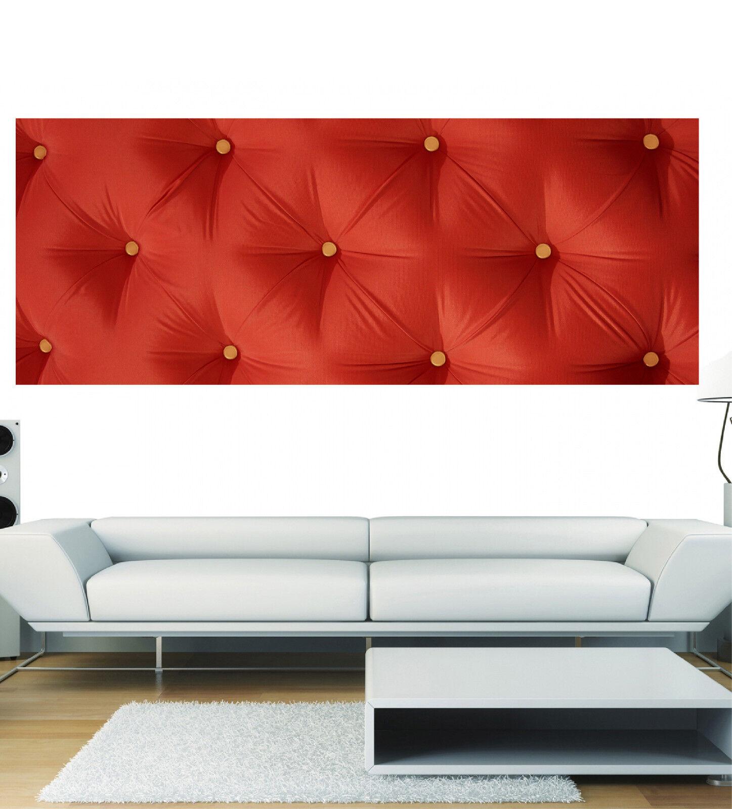 Stickers panoramique 3621 déco mural Capitoné Rouge réf 3621 panoramique ( 13 diHommes sions ) d6ccb0