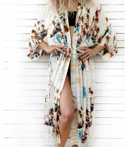 Women  Kimono Cardigan Beach Bikini Cover Up Boho Long Holiday Blouse