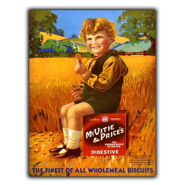 Metal Sign Wall Plaque McVities Digestive Biscuits Vintage Poster Advert  Print