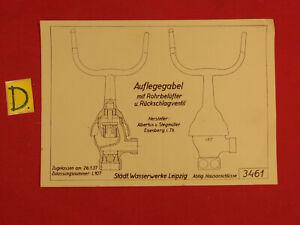 WunderschöNen Schema Auflegegabel Mit Rohrbelüfter U.rückschlagventil Zugellasen Am 26.1.1937 Ein BrüLlender Handel Schlosser