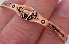 Copper Cuff Bracelet Wheeler Arthritic Healing Power Small Horse Folklore CB 025