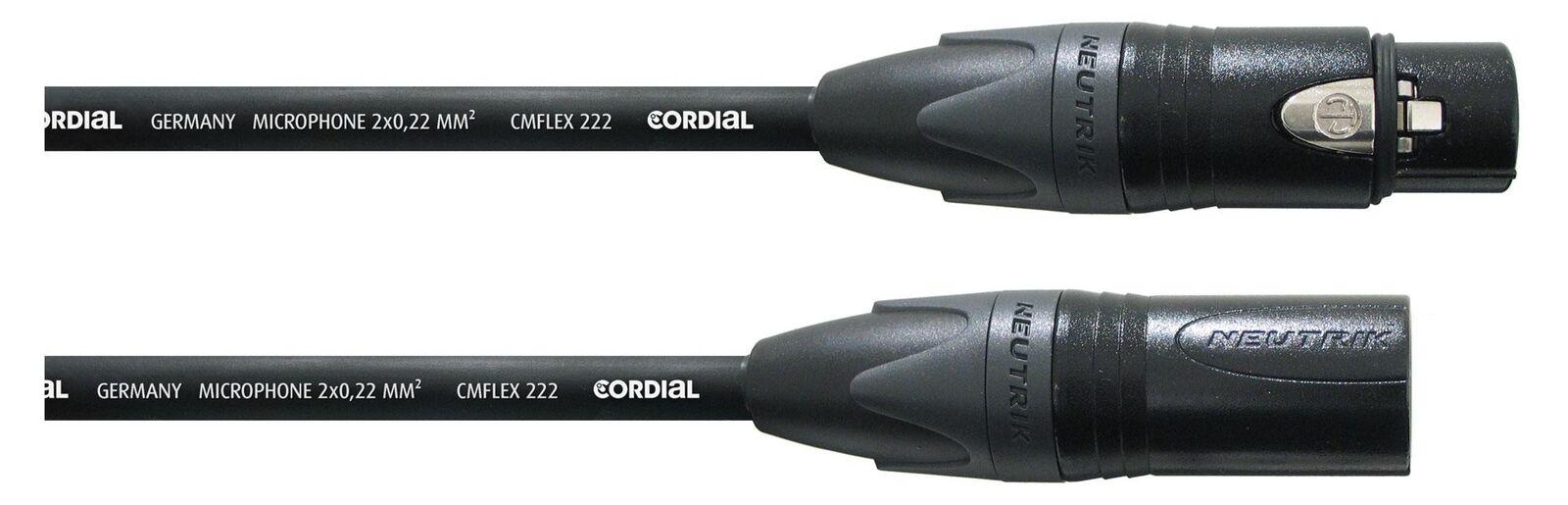 Cordial CPM 10 FM-Flex XLR cable 10m cables del micrófono micrófono micrófono Neutrik conector parche negro 1400c7