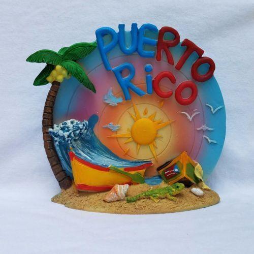 Puerto Rico Home /& Office Decorative Plate Souvenirs Boricua /& Rican #2