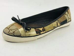 vendita calda online 07c32 54416 Details about Coach Butterfly Twist Ballerina Women's Flat Casual Shoe Size  US.7/EU.37.5/ UK.5