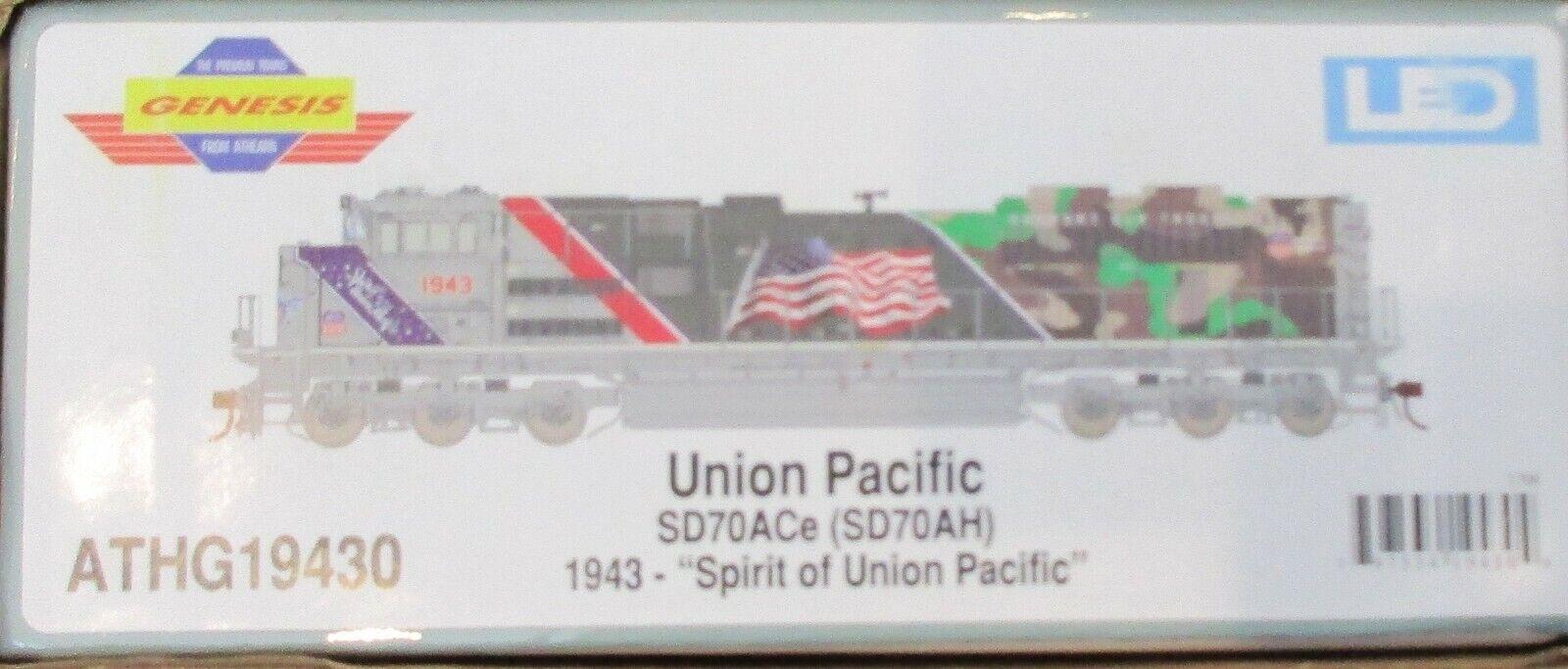 Escala Ho Athearn Genesis SD70ACe Union Pacific  1943 - Dc-athg 019430