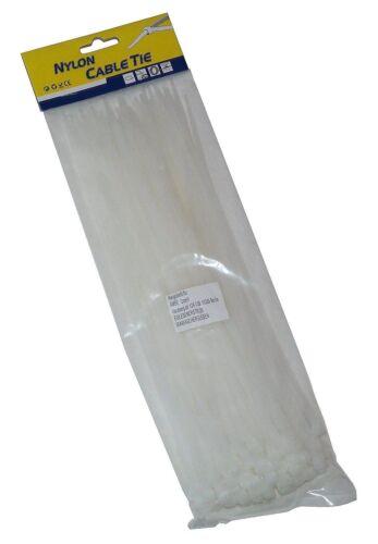 Nylon Professionnel Serre-câbles 250 x 3,6 mm Transparent Résistant aux intempéries bricolage jardin