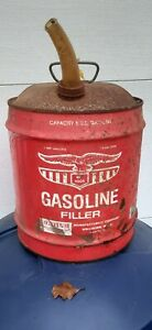 Vintage-red-eagle-Gas-5-gallon-Can