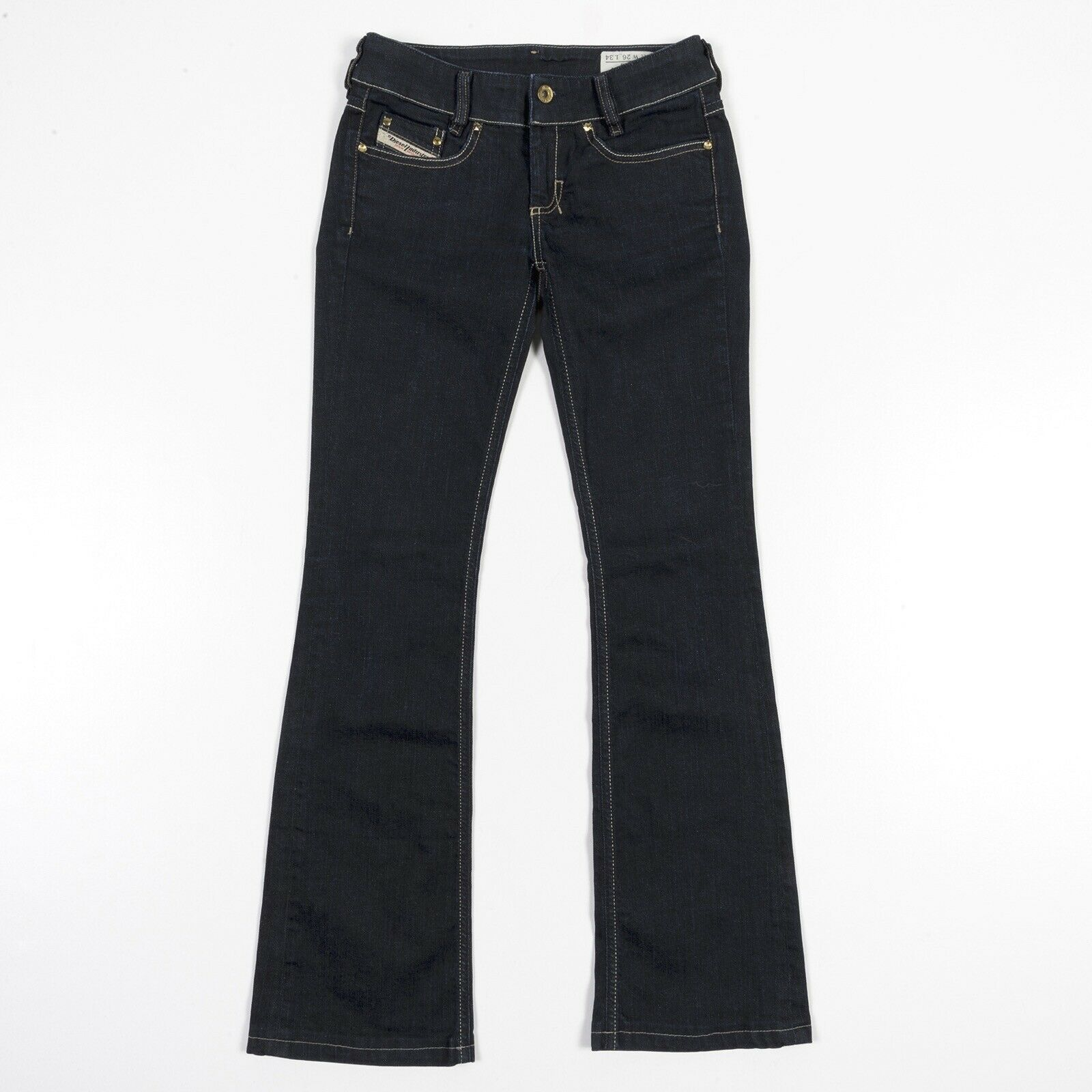 DIESEL Jeans Louvely Boot Cut Low Rise Dark Wash 008AA Stretch Womens 27 x 30
