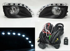 Toyota Camry 2010 2011 LED Clear Front Bumper Fog Lights Lamps Pair w/ Switch