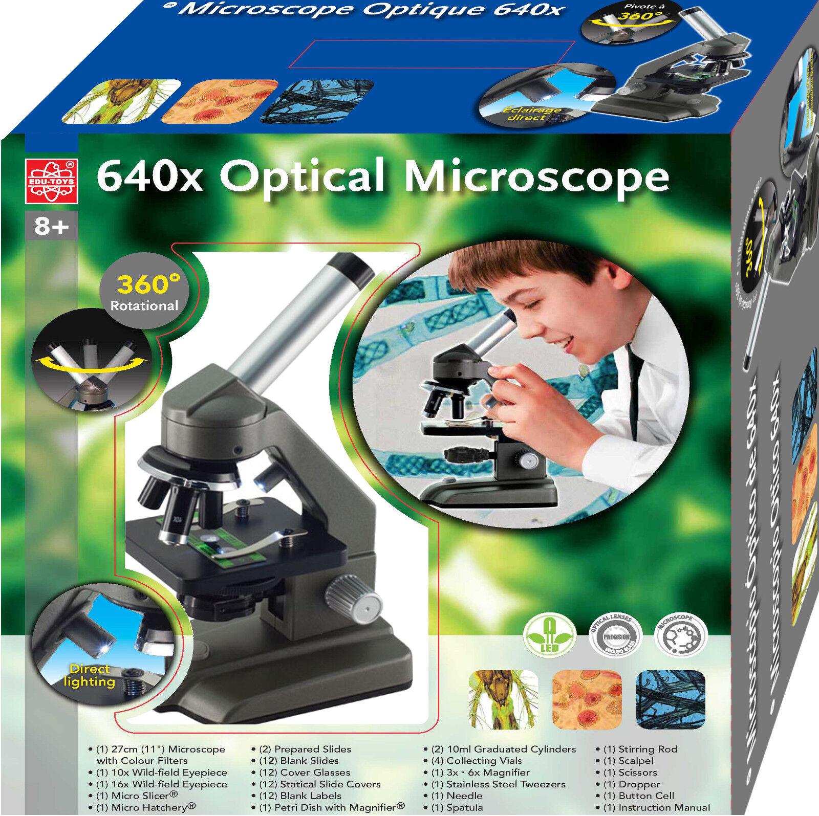 EDU Dual Mono - Mikroskop Schülermikroskop  große Okulare Drehkopf Zubehör LED
