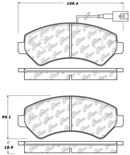 Disc Brake Pad Set Front Centric 106.15401