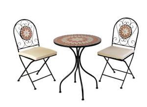 Klappbar Gartengruppe Zu Details Tisch Sitzgruppe Bistro Stuhl Mc4341 Set Eisen Mosaik LGUqSzMVjp