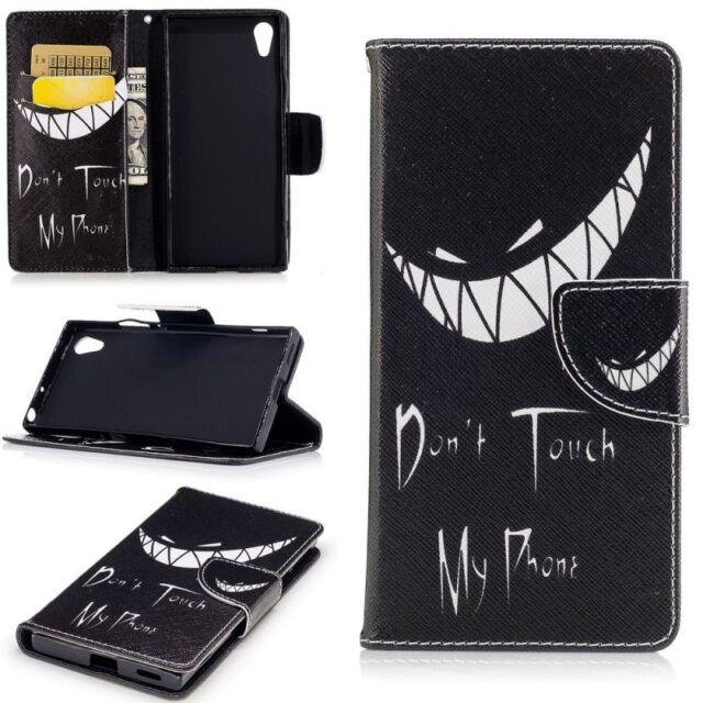 Portefeuille de poche Premium motif 22 pour Sony Xperia XA1 étui coque Neuf
