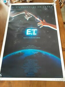 E-T-The-Extra-Terrestrial-Original-movie-Poster-1982-Vintage-NSS